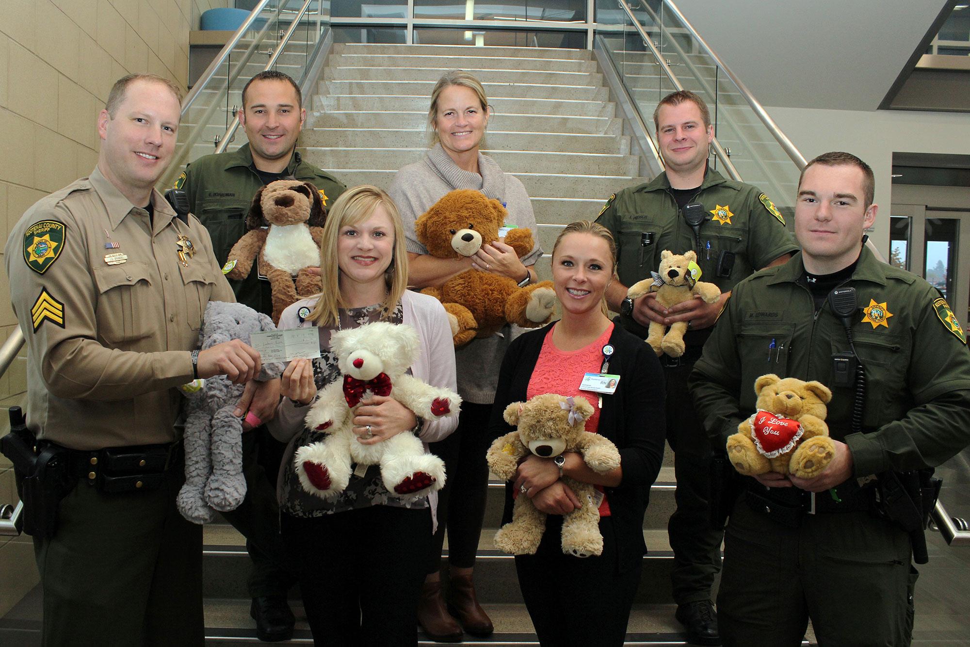 Kootenai County Deputy Sherriff Association Donates to Kootenai Health Teddy Bear Clinic